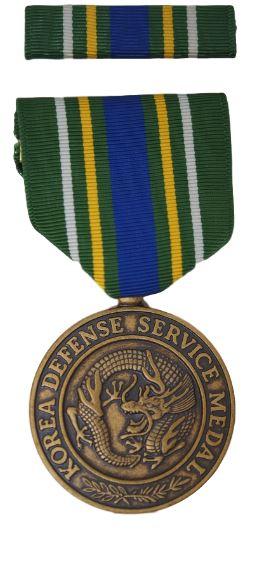 GI Medal Set – Military Korean Defense Service Medal & Ribbon Set