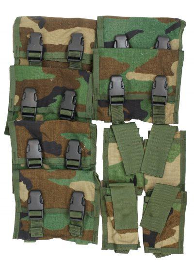 GI M203 Pouch Kit – Includes – 6 Pcs M203 Three Round Pouches + 4 Pcs M203 Illumination Round Pouches